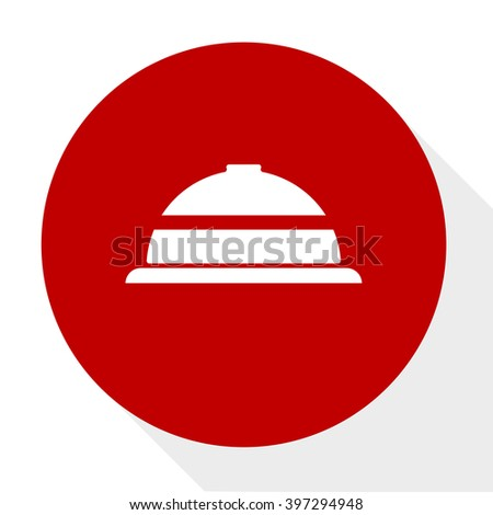 covered plate button  - stock vector