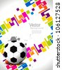 creative football background with colorful modern design. Vector illustration - stock vector