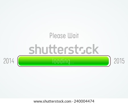 2015 creative loading. isolated background. percentage. Vector illustration. - stock vector
