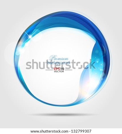 Creative vector illustration of the abstract frame background