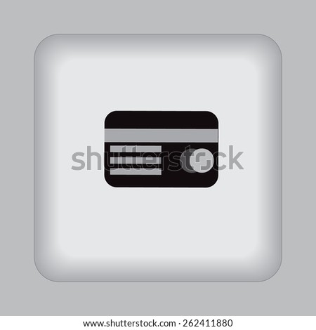 Credit, card, magnetic, tape, icon, vector, illustration. - stock vector