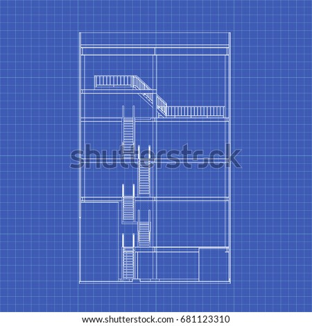 Crosssection industrial building vector blueprint architectural cross section industrial building vector blueprint architectural background malvernweather Image collections