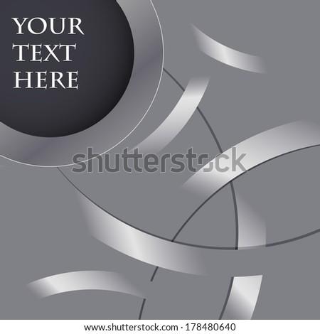 3d abstract background circles lyrics - stock vector