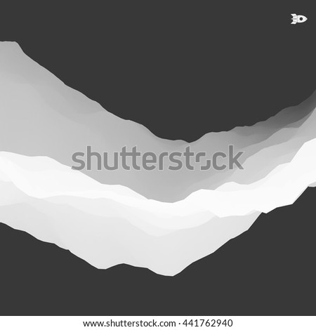 3D Abstract Background. Futuristic Technology Style. Motion Illustration.  - stock vector