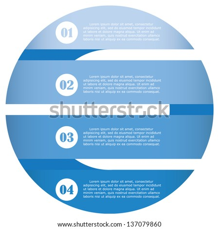 3d abstract blue clean number banners and place for your text. vector. - stock vector