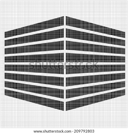 3d abstract cube logo, office building in perspective. Cube technology abstract logo template. Creative design icon. vector art image illustration, isolated on white background