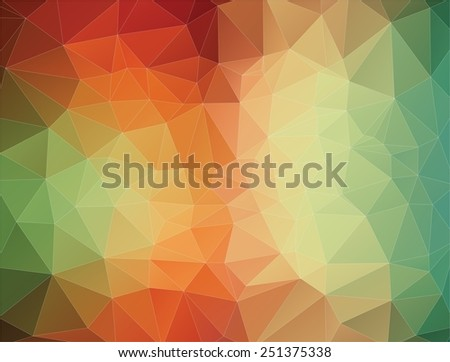 2D Abstract geometric colorful triangle background - stock vector