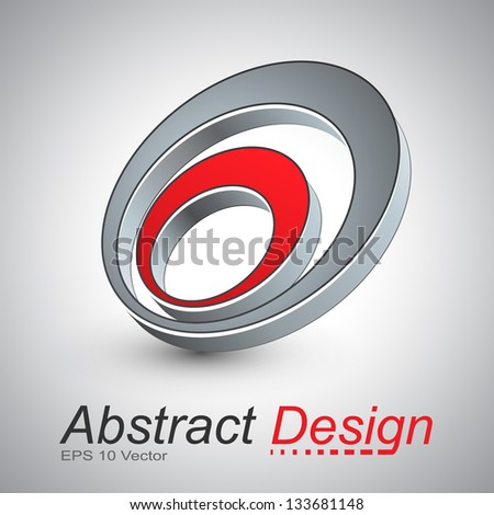 3D abstract icon design, vector illustration.