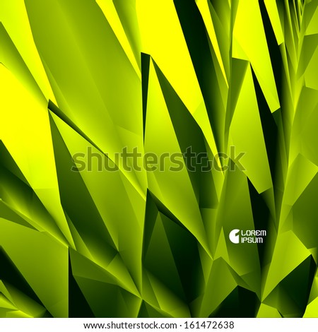 3D abstract illustration. Vector background.  - stock vector