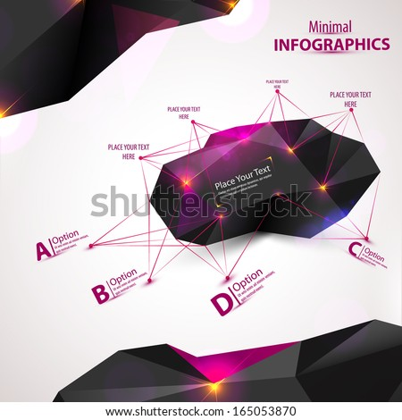 3D Abstract Mesh Background with Circles, Lines and Shapes, EPS10 Design Layout for Your Business - stock vector