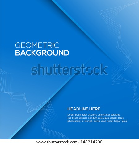 3D Abstract vector background for your design - stock vector