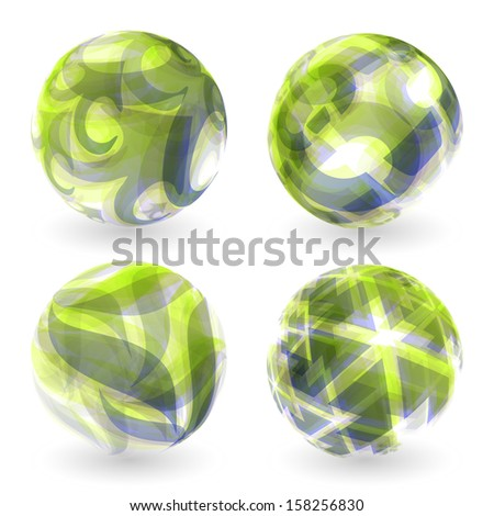 3d abstract vector illustration. Sphere. - stock vector