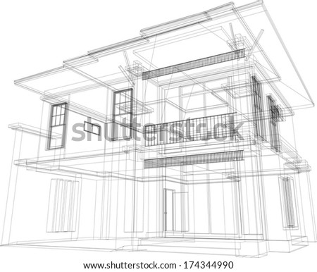 3d Architecture - stock vector
