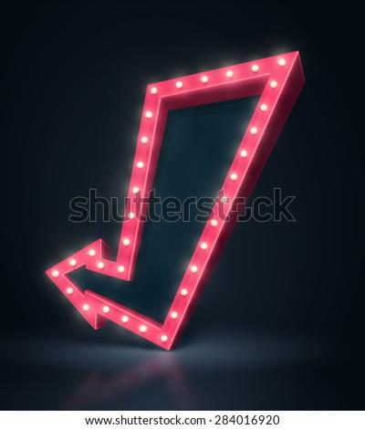 3D arrow banner, eps 10 - stock vector