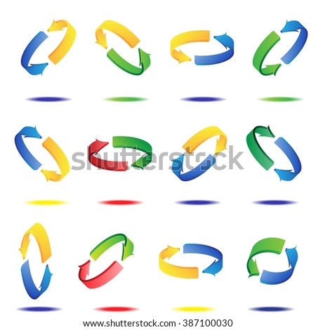 3d arrow for business or website button decoration. Vector illustration - stock vector
