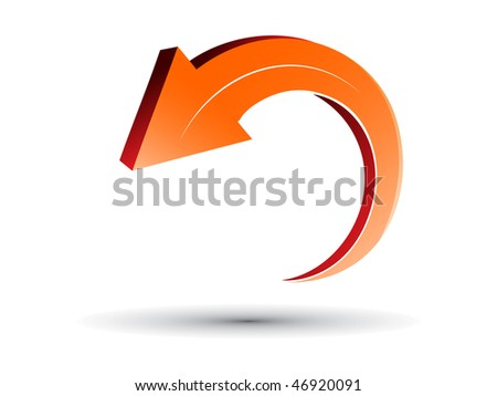 3D arrow sign vector - stock vector