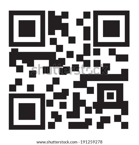 2D barcode on white background, vector illustration - stock vector