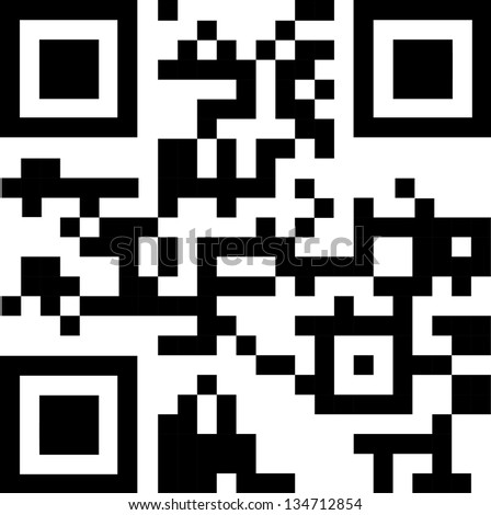 2D barcode. Vector illustration. - stock vector