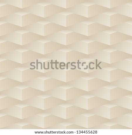 3d beige seamless pattern - stock vector