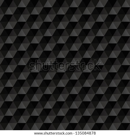 3d black abstract background. Geometric seamless pattern. - stock vector