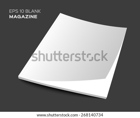3D blank magazine or brochure cover mockup. Realistic vector EPS10 illustration. - stock vector