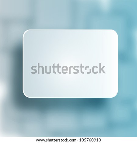 3D Blank Square for Your Text - Vector Design - stock vector