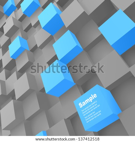 3d blocks structure background. Vector illustration.  - stock vector