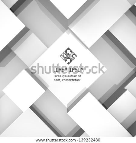 3d blocks structure background. Vector illustration. - stock vector