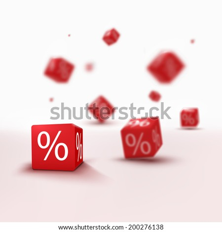 3D blurred discount boxes for designs - stock vector