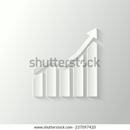 3d business chart. Stock graph icon - stock vector