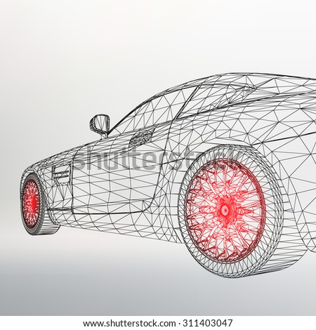 3d Car Model Stock Vectors, Images & Vector Art | Shutterstock