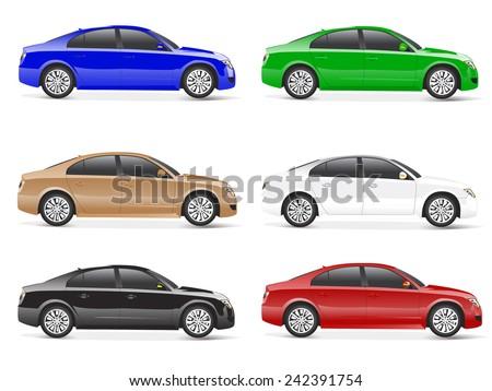 3D Car Vector - stock vector