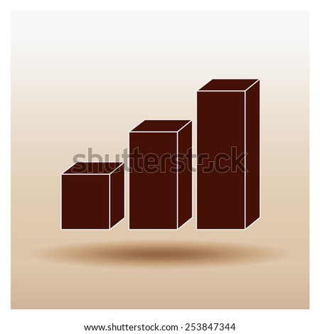 3D chart icon. - stock vector
