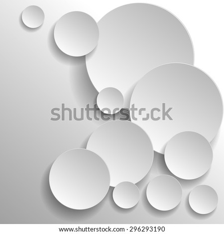 3d circles background eps10.Design element in vector - stock vector