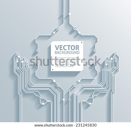 3d circuit board abstract backgrounds - vector - stock vector
