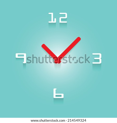3D Clock With Transparent Shadow - stock vector