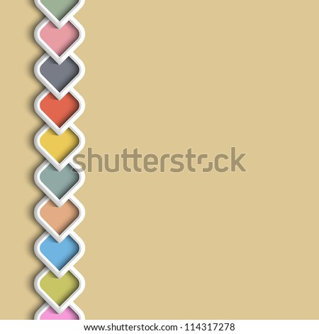 3d color border in arabic style. Vector illustration - stock vector