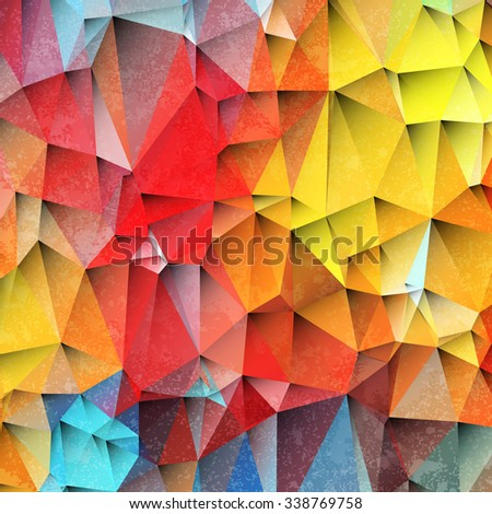 3d colored paper background with grunge texture. Vector EPS10 - stock vector