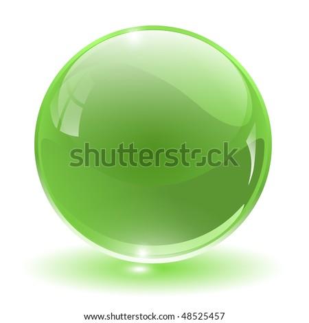 3D crystal, glass sphere, vector illustration. - stock vector