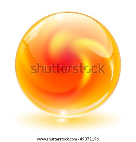 3D crystal, glass sphere vector illustration. - stock vector