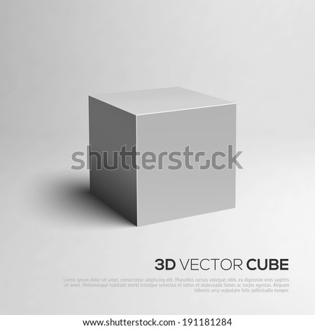 3D Cube. Vector illustration for your design. - stock vector