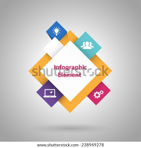 3D cubes abstract infographic with icons. Vector EPS 10 illustration. - stock vector