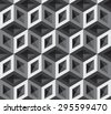 3d cubes pattern - stock vector