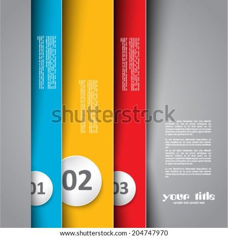 3d design with color banners - stock vector