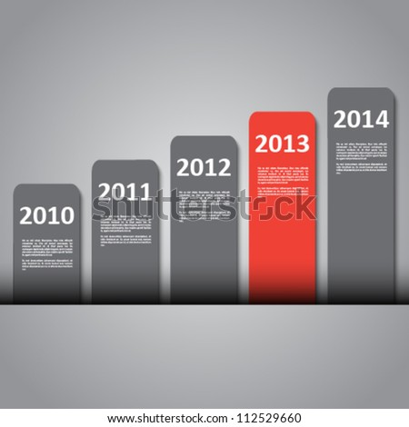 3d design with year banners - stock vector