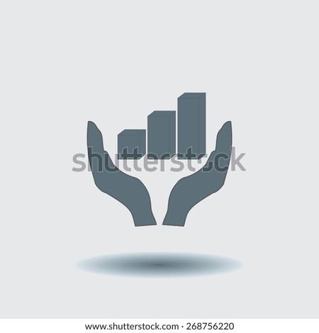 3D diagram icon, vector illustration. Flat design style.. - stock vector