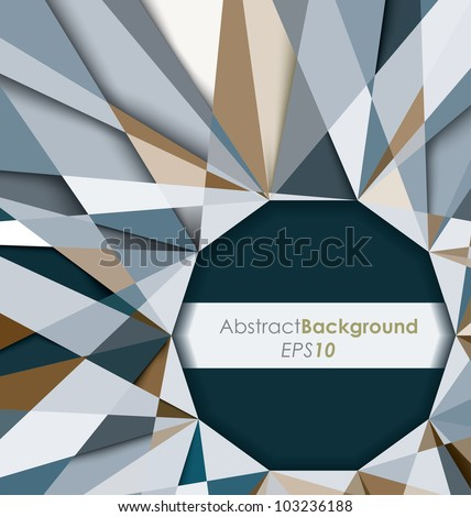 3D Diamond Abstract Background - stock vector