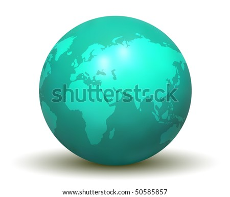 3D Earth Globe (Vector)