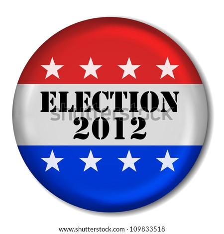 3D Election 2012 Badge (EPS10 Vector) - stock vector