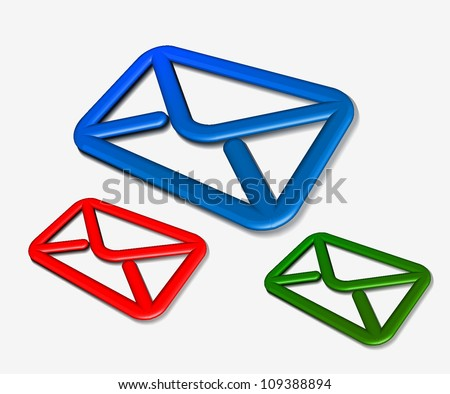 3d email icon. Vector illustration Eps 10. - stock vector